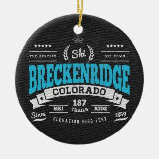 Breckenridge Vintage Mint Ceramic Ornament