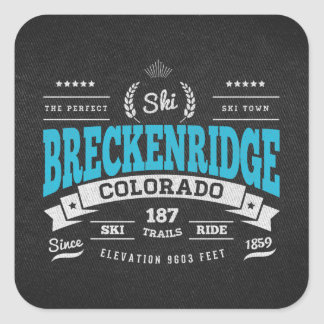 Breckenridge Vintage Mint Square Sticker