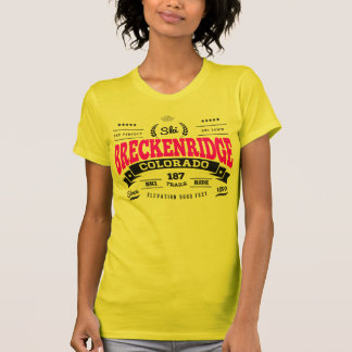 Breckenridge Vintage Raspberry Black T-Shirt