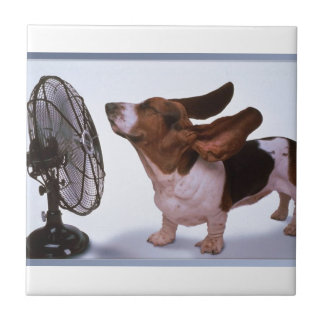 Breeze -Dog and Fan Tile
