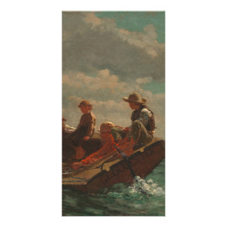 Breezing Up (A Fair Wind) by Winslow Homer Customized Photo Card