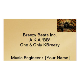 Breezy Beats Inc. (BB Inc.) Pack Of Standard Business Cards