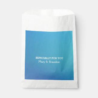Breezy Beautiful Blue Watercolor Wedding Favour Bags