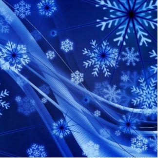 Breezy Blue Snowflakes Photo Cut Out