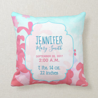 Breezy Bracken Baby Birth Stats Pillow