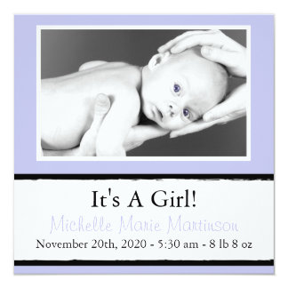 Breezy New Baby Photo Announcements (Violet)