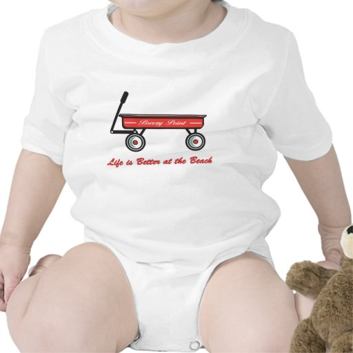 Breezy Point Little Red Wagon Bodysuits