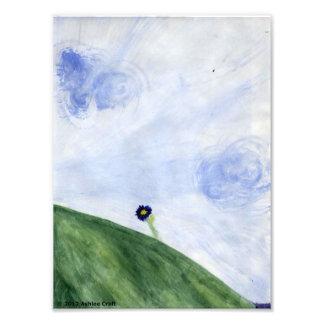 Breezy Summer Hill Blank Card Photo Art