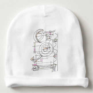 Breezy-Whimsical Geometric Abstract Baby Beanie