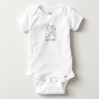 Breezy-Whimsical Geometric Abstract Baby Onesie