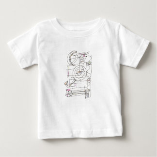 Breezy-Whimsical Geometric Abstract Baby T-Shirt