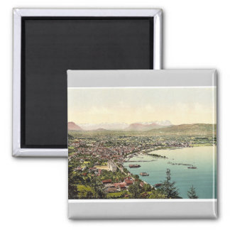"Bregenz from ""Haggen"", Tyrol, Austro-Hungary rare Square Magnet"