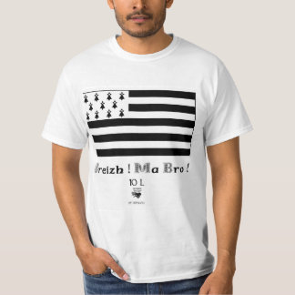 Breizh Ma Bro! bretagne mon pays ! Gwen Ha Du T-Shirt