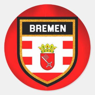 Bremen Flag Classic Round Sticker