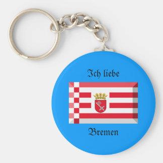 Bremen Flag Gem Key Chains