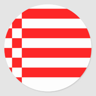 Bremen, Germany flag Classic Round Sticker