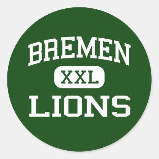 Bremen - Lions - High School - Bremen Indiana Stickers