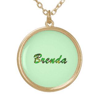Brenda accessories round pendant necklace