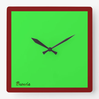 Brenda Square Wall Clocks
