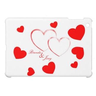 Brenda & Joey - Cute Hearts with Names - iPad Mini Covers