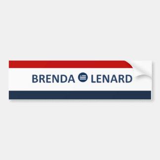 Brenda Lenard Red. White. Blue Bumpersticker. Bumper Sticker