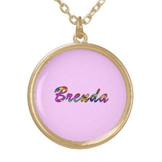 Brenda Round Pendant Necklace