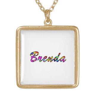 Brenda Square Pendant Necklace
