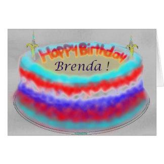 Brenda's Birthday Cake Greeting Card