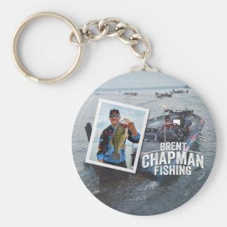 Brent Chapman Bass Fishing Tournament Photo Basic Round Button Key Ring