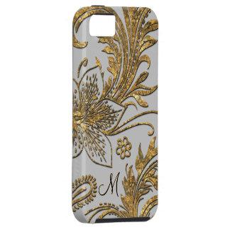 Breselcoucant Dove  Elegant Floral Monogram iPhone 5 Case