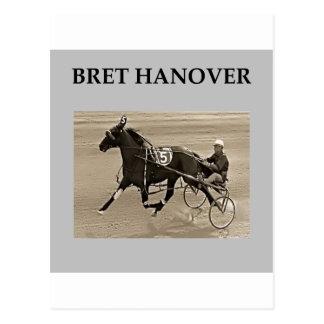 bret hanover harness racing postcard