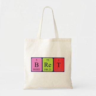 Bret periodic table name tote bag