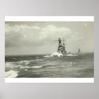 Bretagne Class Battleship, built 1913 Poster