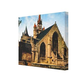 Bretagne, Penmarch, Eglise St Nonna Stretched Canvas Prints