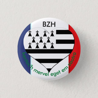 Breton Brittany swipes in 3 Cm Round Badge