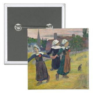 Breton Girls Dancing, Pont-Aven, 1888 15 Cm Square Badge