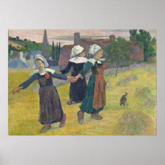 Breton Girls Dancing, Pont-Aven, 1888 Poster
