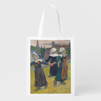 Breton Girls Dancing, Pont-Aven, 1888 Reusable Grocery Bag