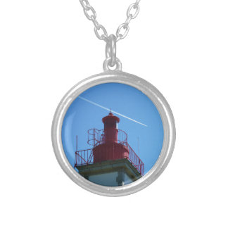 Breton headlight silver plated necklace