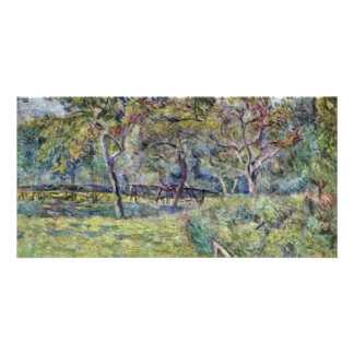 Breton Landscape By Gauguin Paul (Best Quality) Customized Photo Card
