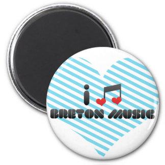 Breton Music fan Fridge Magnets