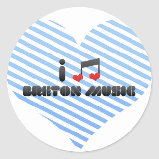 Breton Music fan Round Stickers