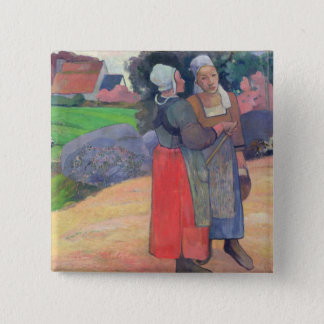 Breton Peasants, 1894 15 Cm Square Badge