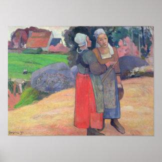 Breton Peasants, 1894 Poster