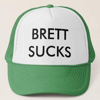 BRETT SUCKS! TRUCKER HAT