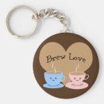 Brew Love! Coffee Mugs Basic Round Button Keychain