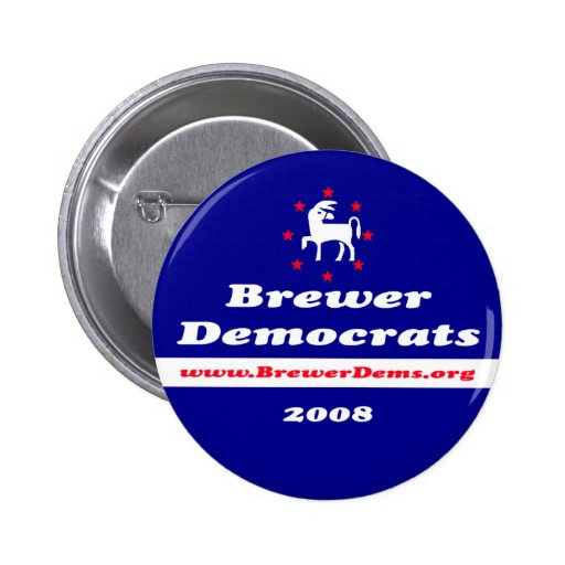 Brewer Democrats 2008 Button