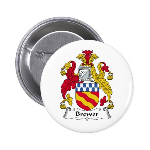 Brewer Family Crest Buttons