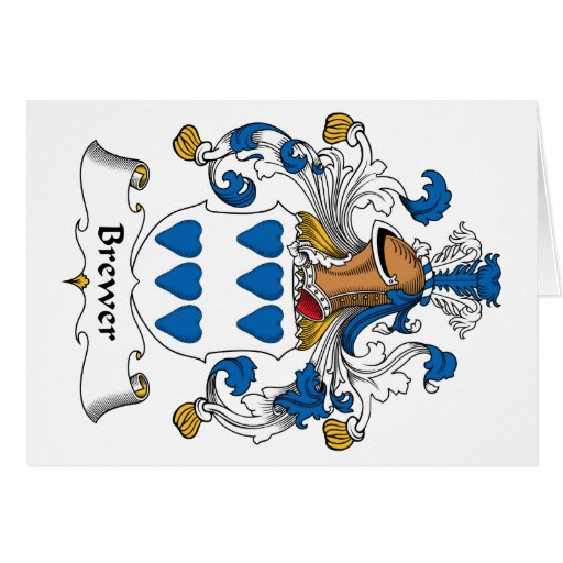 Brewer Family Crest Card