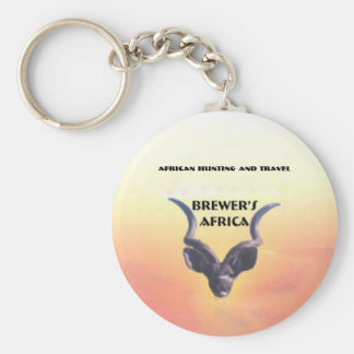 Brewer's Africa Logo Basic Round Button Key Ring